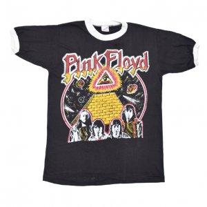70'S PINK FLOYD ピンクフロイド パキスタン製 プロビデンスの目 デッドストック ヴィンテージTシャツ ?@ 【L】