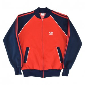 <img class='new_mark_img1' src='https://img.shop-pro.jp/img/new/icons50.gif' style='border:none;display:inline;margin:0px;padding:0px;width:auto;' />80'S adidas アディダス 紺赤2トーン ヴィンテージジャージ 【M】