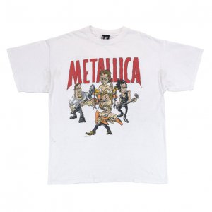 <img class='new_mark_img1' src='//img.shop-pro.jp/img/new/icons50.gif' style='border:none;display:inline;margin:0px;padding:0px;width:auto;' />90'S METALLICA メタリカ アメコミ風 バンドショット ヴィンテージTシャツ 【XL】