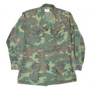 60'S U.S.ARMY 米軍実物 ベトナム戦 ERDL迷彩 ジャングルファティーグジャケット 【S】