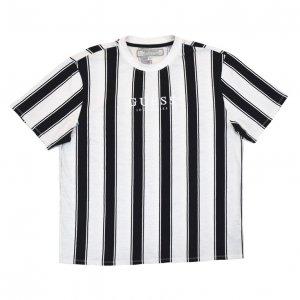 90'S GUESS ゲス モノクロ ストライプ Tシャツ 【XL】