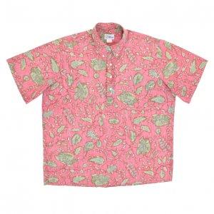 REYN SPOONER レインスプーナー 赤ベース ハワイ植物柄 アロハシャツ 【XL】