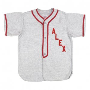 60'S POST ウール素材 ALEX フェルト パイピング ヴィンテージベースボールシャツ 【XXS相当】