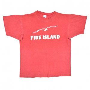 70'S CHAMPION チャンピオン FIRE ISLAND バータグ ヴィンテージTシャツ 【L】