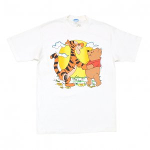 <img class='new_mark_img1' src='https://img.shop-pro.jp/img/new/icons50.gif' style='border:none;display:inline;margin:0px;padding:0px;width:auto;' />80'S WINNIE THE POOH & TIGGER クマのプーさん&ティガー ディズニー デッドストック ヴィンテージTシャツ 【L】