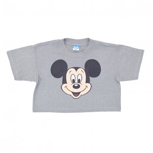 <img class='new_mark_img1' src='https://img.shop-pro.jp/img/new/icons50.gif' style='border:none;display:inline;margin:0px;padding:0px;width:auto;' />80'S MICKEY MOUSE ミッキーマウス ディズニーオフィシャル ショート丈 ヴィンテージTシャツ 【L】