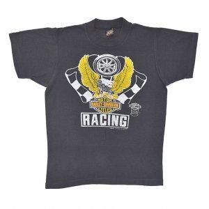 80'S HARLEY DAVIDSON ハーレーダヴィッドソン イーグル RACING ヴィンテージTシャツ 【S】