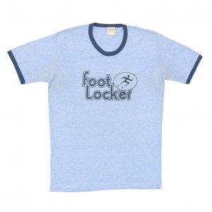 70-80'S FOOTLOCKER フットロッカー 霜降りブルー ヴィンテージTシャツ 【XL相当】