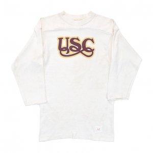 <img class='new_mark_img1' src='https://img.shop-pro.jp/img/new/icons12.gif' style='border:none;display:inline;margin:0px;padding:0px;width:auto;' />70'S SPORTSWEAR スポーツウェア USC 南カリフォルニア大学 ヴィンテージフットボールTシャツ 【M】