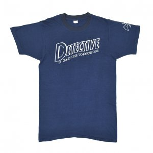 70'S DETECTIVE ディテクティヴ IT TAKE ONE TO KNOW ONE ヴィンテージTシャツ 【L】