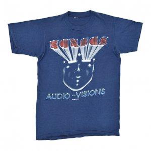 80'S KANSAS カンサス AUDIO VISIONS ヴィンテージTシャツ 【L相当】
