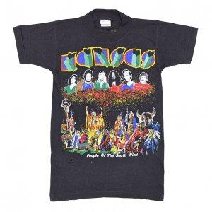 80'S KANSAS カンサス PEOPLE OF THE SOUTH WIND デッドストック ヴィンテージTシャツ 【S】