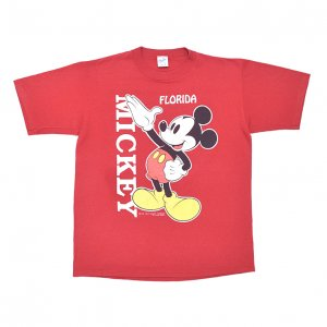80'S MICKEY MOUSE ミッキーマウス ディズニー FLORIDA USA製 ヴィンテージTシャツ 【L】