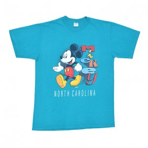 90'S MICKEY MOUSE ミッキーマウス ディズニー NORTH CALOLINA USA製 ヴィンテージTシャツ 【L】