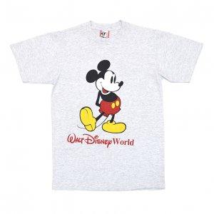 90'S MICKEY MOUSE ミッキーマウス WALT DISNEY WORLD USA製 ヴィンテージTシャツ 【M】