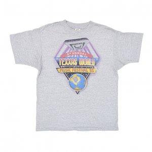 1985 TEXXAS JAM テキサスジャム DEEP PURPLE SCORPIONS BON JOVI ヴィンテージTシャツ 【L】