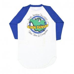 1980 JOHN DENVER ジョンデンバー HERE THERE & EVERYWHERE ヴィンテージTシャツ 【M】