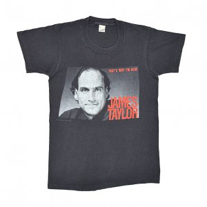 1986 JAMES TAYLOR ジェームステイラー THAT'S WHY I'M HERE ヴィンテージTシャツ 【S】