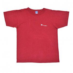 90'S CHAMPION チャンピオン USA製 あずき色 肉厚 綿100% ヴィンテージTシャツ 【XL】