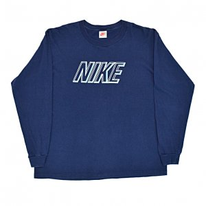 <img class='new_mark_img1' src='//img.shop-pro.jp/img/new/icons50.gif' style='border:none;display:inline;margin:0px;padding:0px;width:auto;' />90'S NIKE ナイキ USA製 ロンT ロゴプリント ヴィンテージTシャツ 【XL】