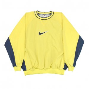 <img class='new_mark_img1' src='//img.shop-pro.jp/img/new/icons50.gif' style='border:none;display:inline;margin:0px;padding:0px;width:auto;' />90'S NIKE ナイキ ウインドブレーカー イエロー ピステ プルオーバー ナイロンジャケット 【XL】