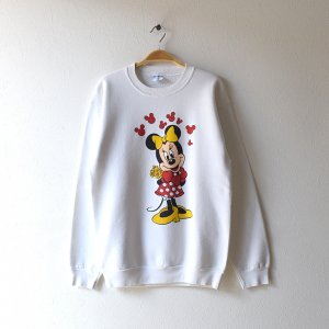 <img class='new_mark_img1' src='https://img.shop-pro.jp/img/new/icons12.gif' style='border:none;display:inline;margin:0px;padding:0px;width:auto;' />80'S MINNIE MOUSE ミニーマウス USA製 ディズニーオフィシャル ヴィンテージスウェットシャツ 【L】
