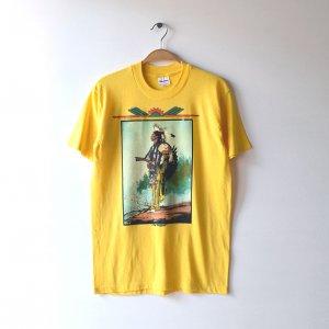 80'S CHUCK REN チャックレン THE PROPHET ネイティブアメリカン アート USA製 ヴィンテージTシャツ 【M】