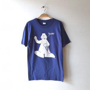 70'S CHAMPION チャンピオン 美品 BIG FOOT 雪男 バータグ フロッキープリント ヴィンテージTシャツ 【M】