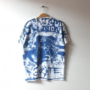 80'S WALL JAM STREET WEAR スケートボード スケボー USA製 総柄 グラフィック ヴィンテージTシャツ 【M】