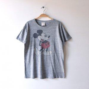 70'S MICKEY MOUSE ミッキーマウス COLLEGIATE PACIFIC ディズニーオフィシャル WALT DISNEY ヴィンテージTシャツ 【M】