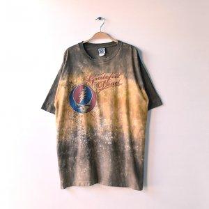 00'S GRATEFUL DEAD グレイトフルデッド リキッドブルー USA製 タイダイ シングルステッチ ロックTシャツ 【XL】