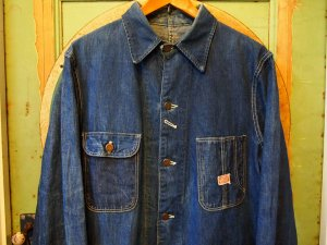 <img class='new_mark_img1' src='https://img.shop-pro.jp/img/new/icons50.gif' style='border:none;display:inline;margin:0px;padding:0px;width:auto;' />50'S  DRUM MAJOR×STRONG RELIABLE  DENIM COVERALL 【L相当】