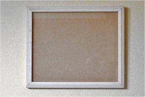 USAヴィンテージ ガラス入 木製フォトフレーム  (HE1050)