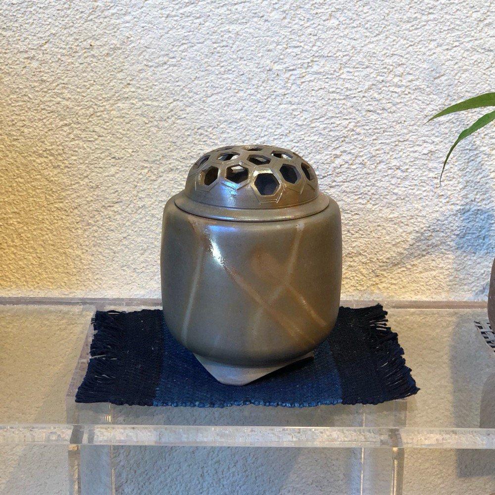 青備前香炉(小)亀甲