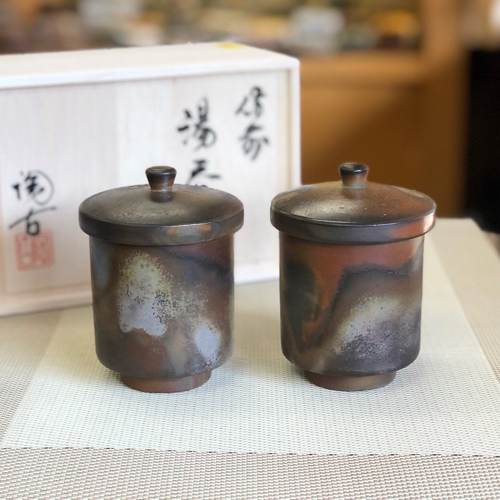 蓋付き湯呑みペアセット(木箱)