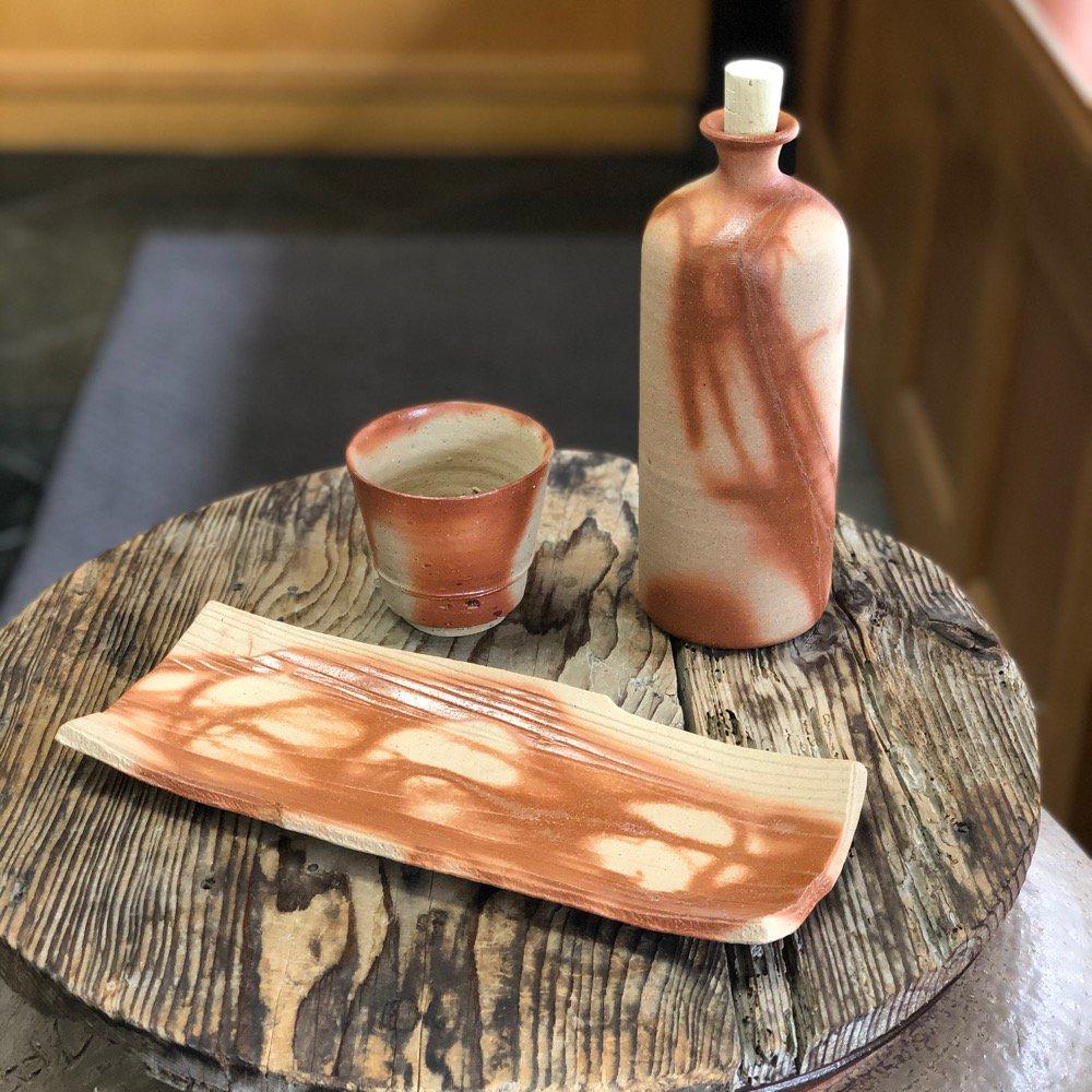 焼き魚が映える料亭晩酌セット(板目皿)