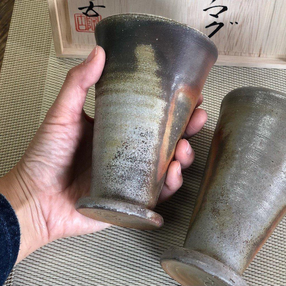 グラス型ビールカップ 木箱ペアセット