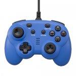 CYBER・ワイヤードコントローラー ミニ(PS4/SWITCH用)〈ブルー〉