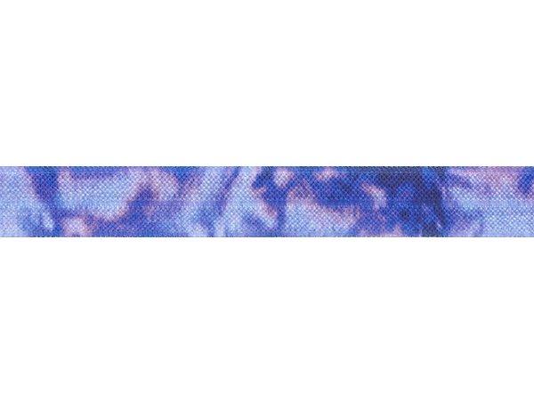 ストレッチテープ(FOE) 15mm幅 タイダイプリント ブルー系
