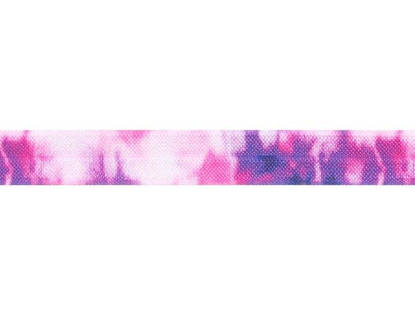 ストレッチテープ(FOE) 15mm幅 タイダイプリント パープル/ピンク