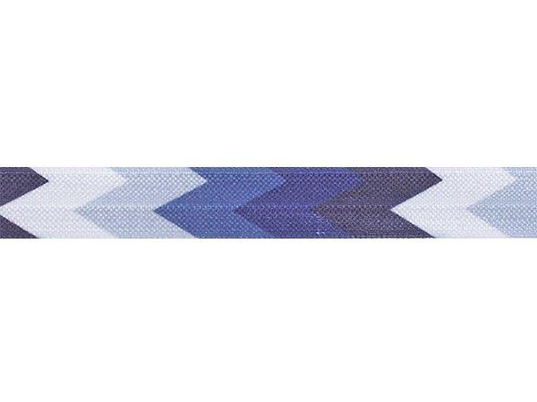 ストレッチテープ(FOE) 15mm幅 トライアングル ネイビーxグレー系