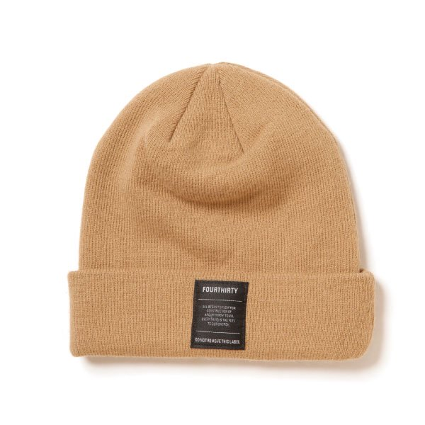 LABEL PLAIN BEANIE