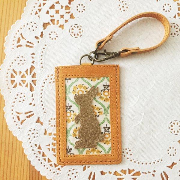 本革手縫いパスケース・ウサギ