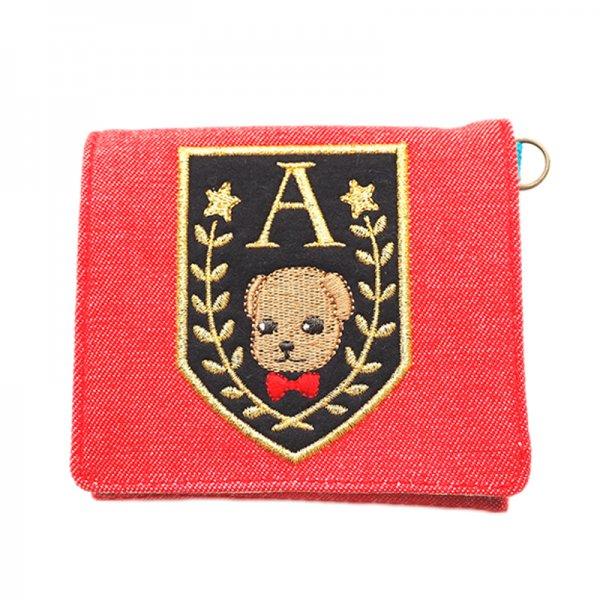 学園アリスコラボ第3弾・刺繍ベアのコインケースD