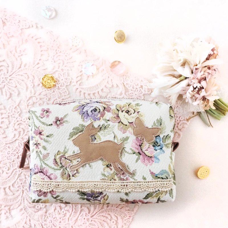 【ポーチ】3月ウサギ・アイボリー