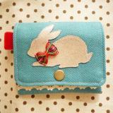 キラキラウサギのコインケース・ブルー