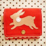 はねウサギのコインケース・ルビー