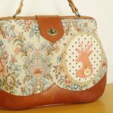 ゴブラン織りのドクターズバッグ「花園の夢」カラー/コーラル