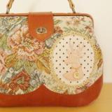 ゴブラン織りのドクターズバッグ「花園の夢」カラー/パールピンク