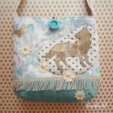 オオカミの花畑ポシェット カラー/ターコイズ